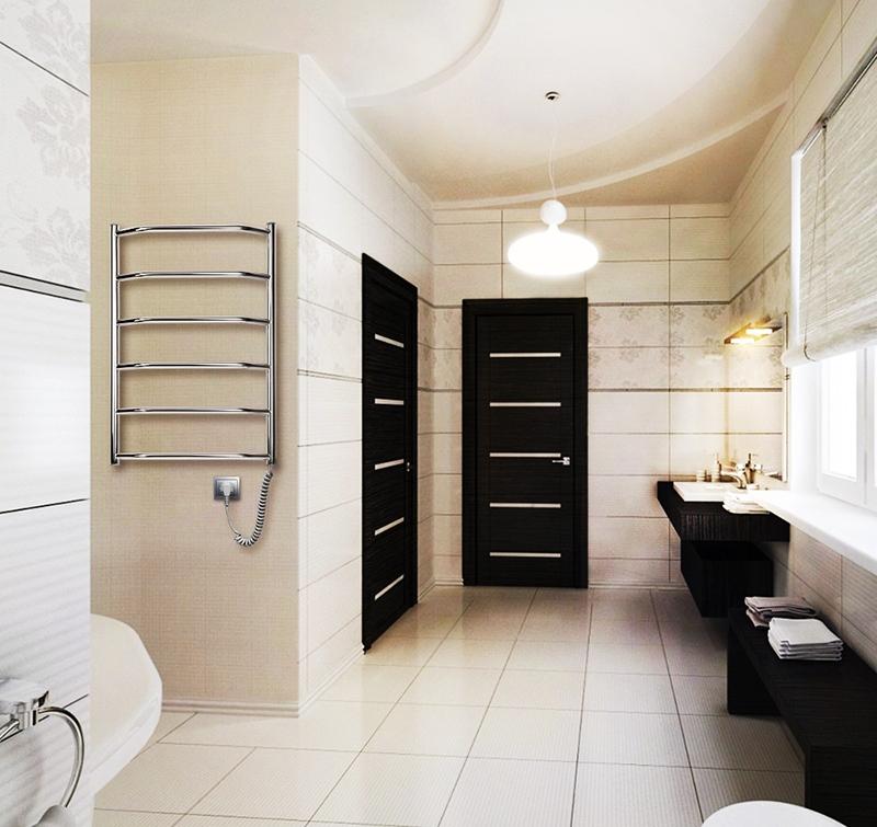 Полотенцесушитель электрического типа для ванной комнаты