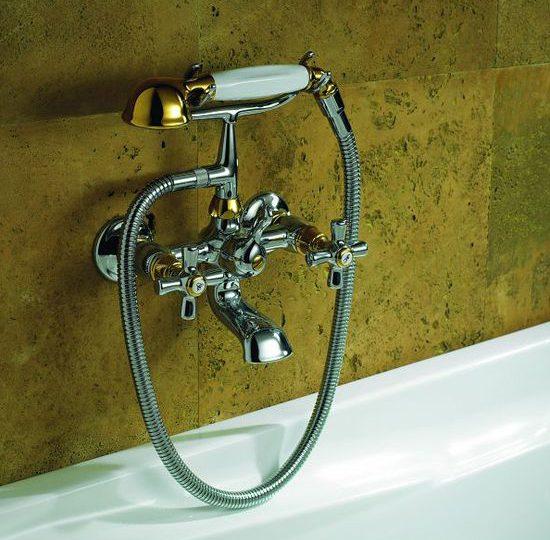 Смеситель для ванной с ручным душем Signorini Antica